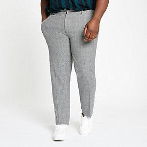 Big and Tall - Zwarte geruite nette broek