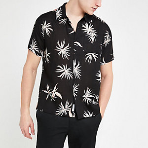 Bellfield black floral short sleeve shirt