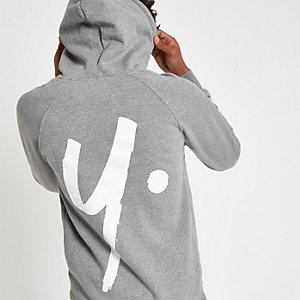 Year Dot - Grijze hoodie met logo op de rug