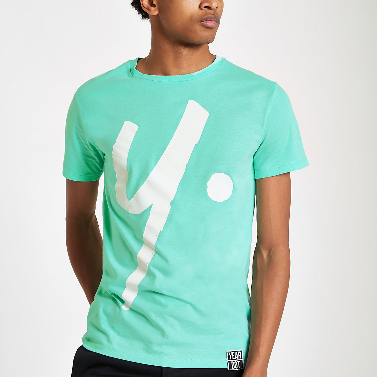 Year Dot mint green logo T-shirt