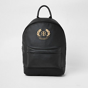 Black RI crest embroidered backpack