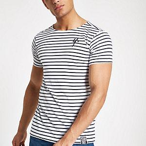 Year Dot – Weißes T-Shirt mit Streifen