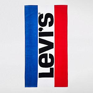 Levi's – Blaues Strandtuch mit Logo