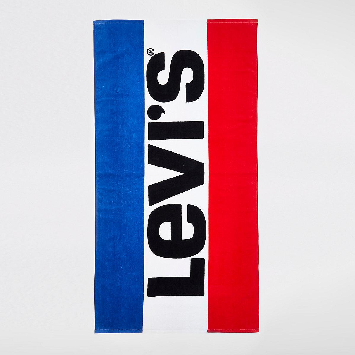 Levi's blue logo beach towel