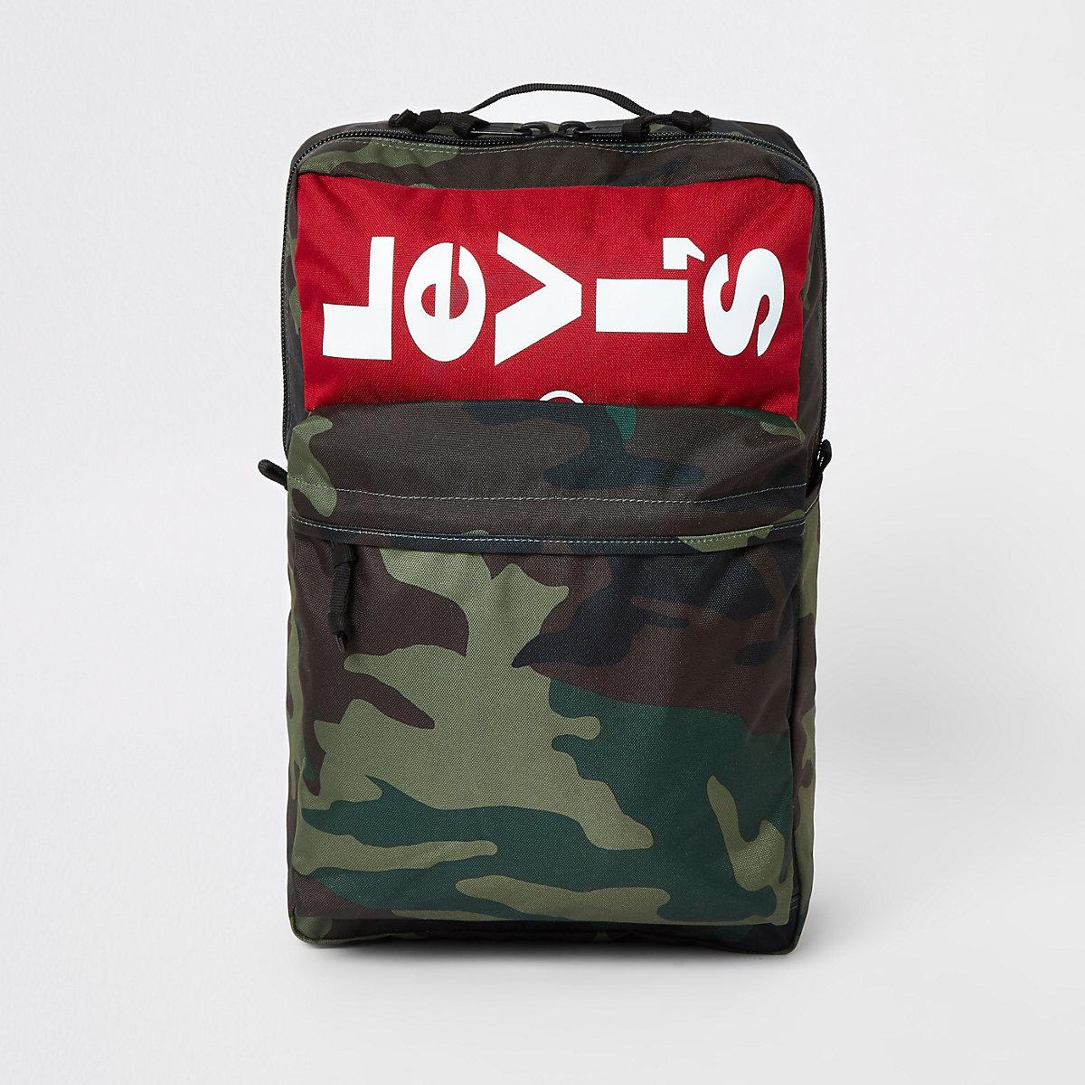 Levi's khaki camo backpack
