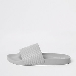 Grey geo textured sliders