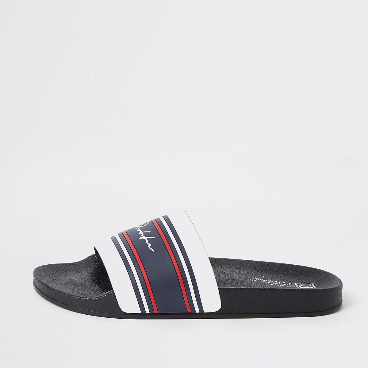 White 'Prolific' stripe sliders