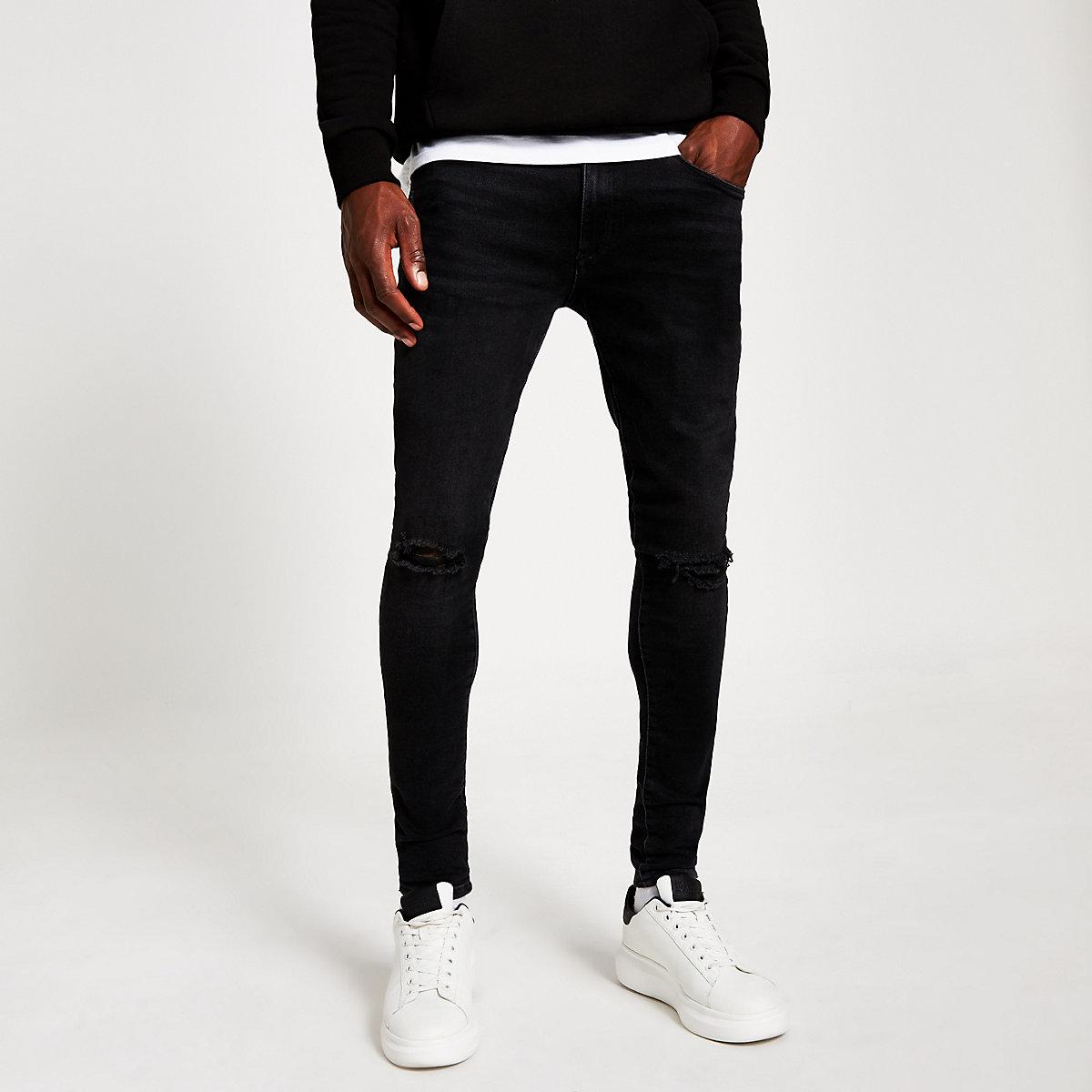 Black ripped spray on Ollie skinny jeans