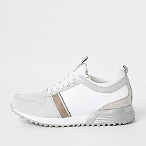 White contrast 'MCMLXXVI' lace-up sneakers