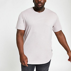 Only & Sons – Big & Tall – T-shirt long gris