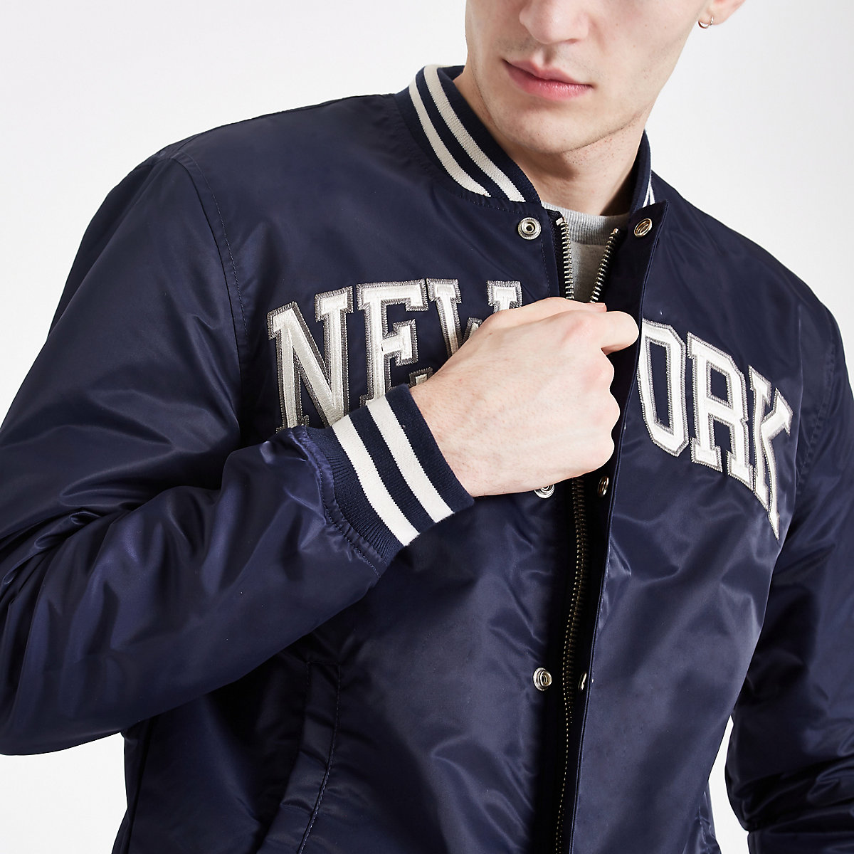 Schott blue 'New York' bomber jacket