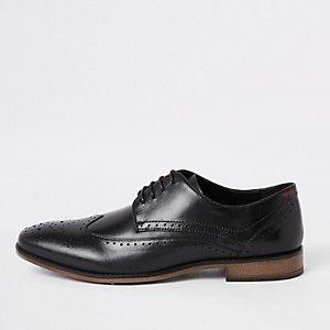 Richelieus en cuir noires à lacets