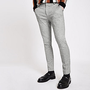 Grey super skinny smart pants