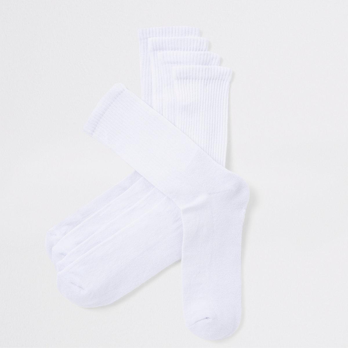 White tube socks 5 pack