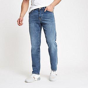 Mid blue Dean straight leg jeans