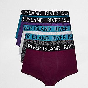 Lot de boxers floqués violets