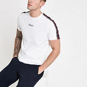 White 'Prolific' taped T-shirt