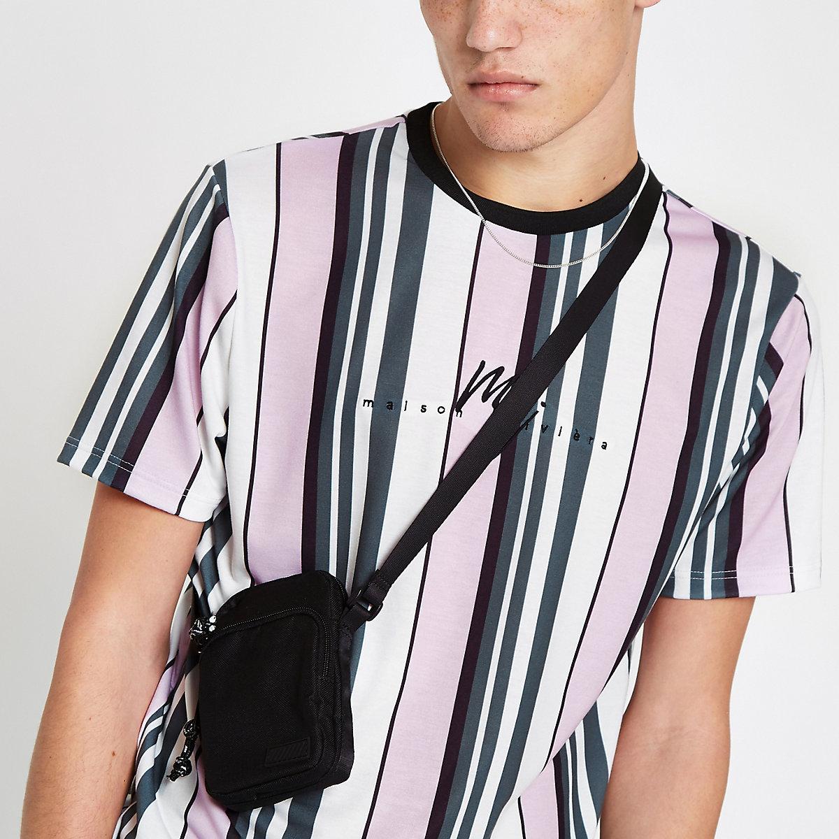Pink stripe 'Maison Riviera' slim fit T-shirt
