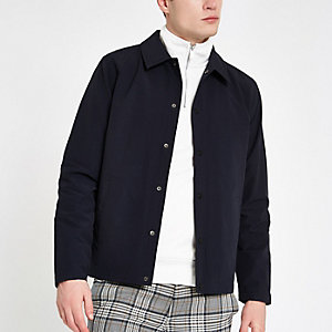 Navy long sleeve coach jacket