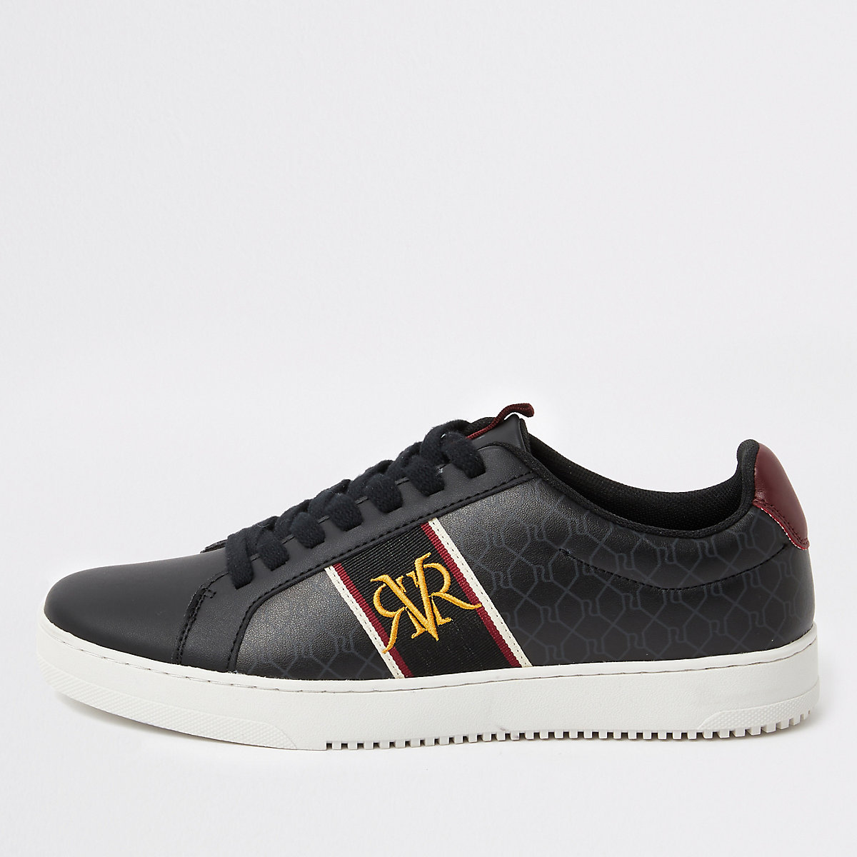 Black RI monogram sneakers