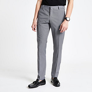 Selected Homme grey slim fit suit trousers