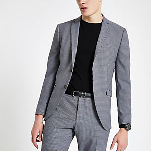 Selected Homme grey fitted suit blazer