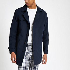 Selected Homme – Trench bleu marine