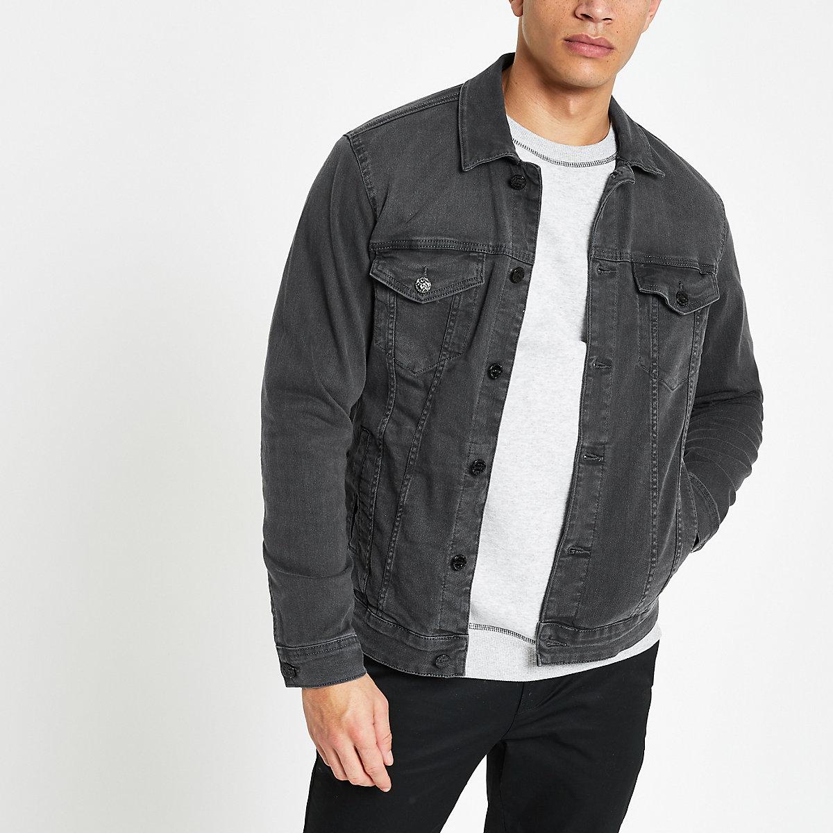 Only & Sons grey wash denim jacket
