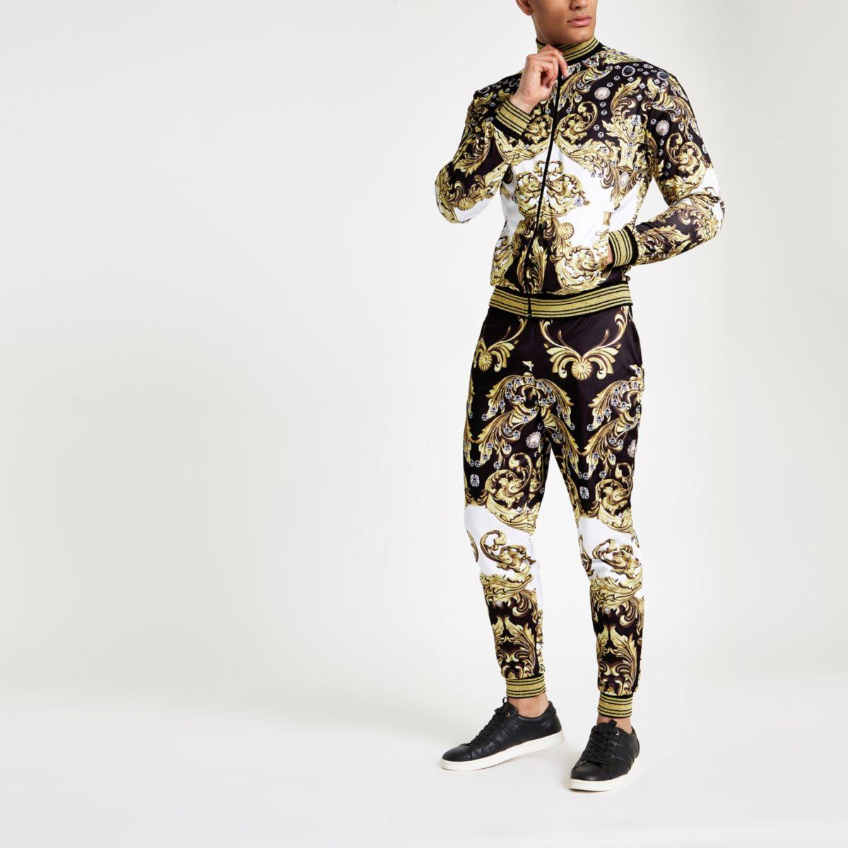 Jaded London black baroque jewel track jacket