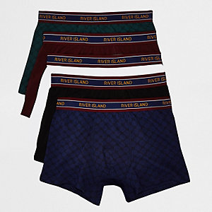 Burgundy RI monogram print trunks multipack