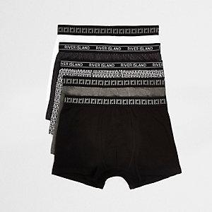 Multipack zwarte strakke boxers met RI-monogram