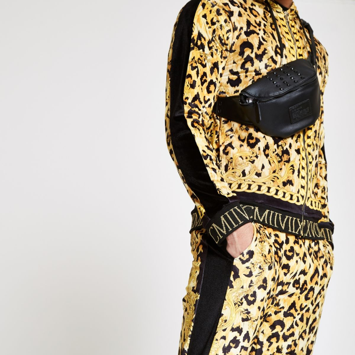Jaded London yellow leopard track jacket
