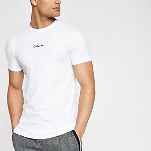 Wit aansluitend T-shirt met 'Prolific'-print