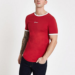 Red 'Prolific' muscle fit T-shirt