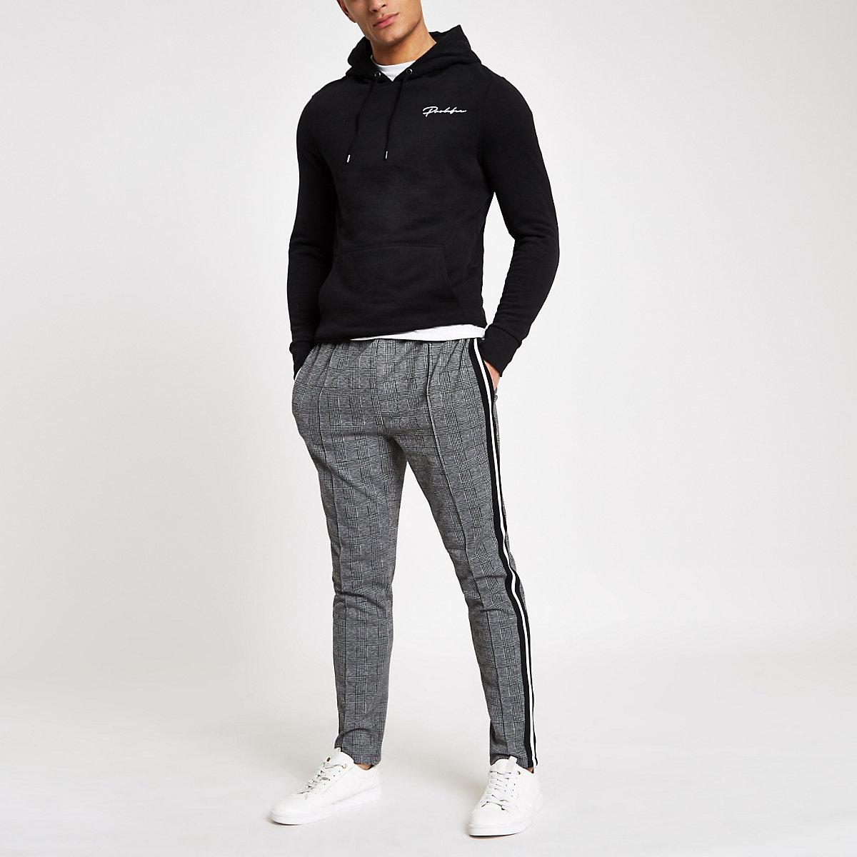 Black 'Prolific' muscle fit hoodie