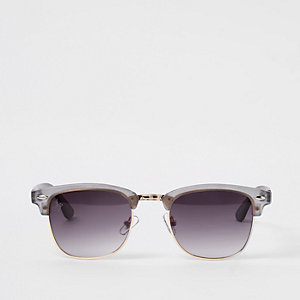 Jeepers Peepers grey retro frame sunglasses