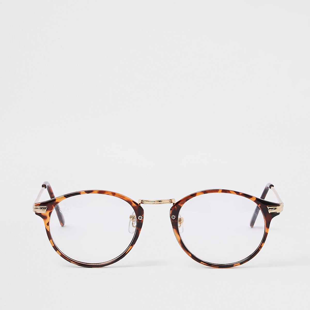 Jeepers Peepers brown tortoise clear glasses