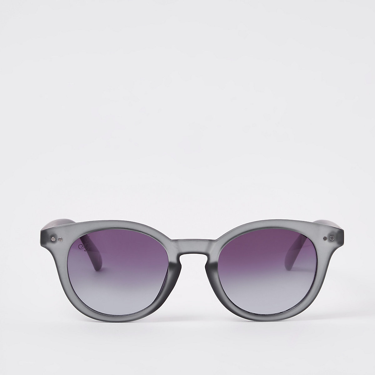 Jeepers Peepers grey preppy round sunglasses
