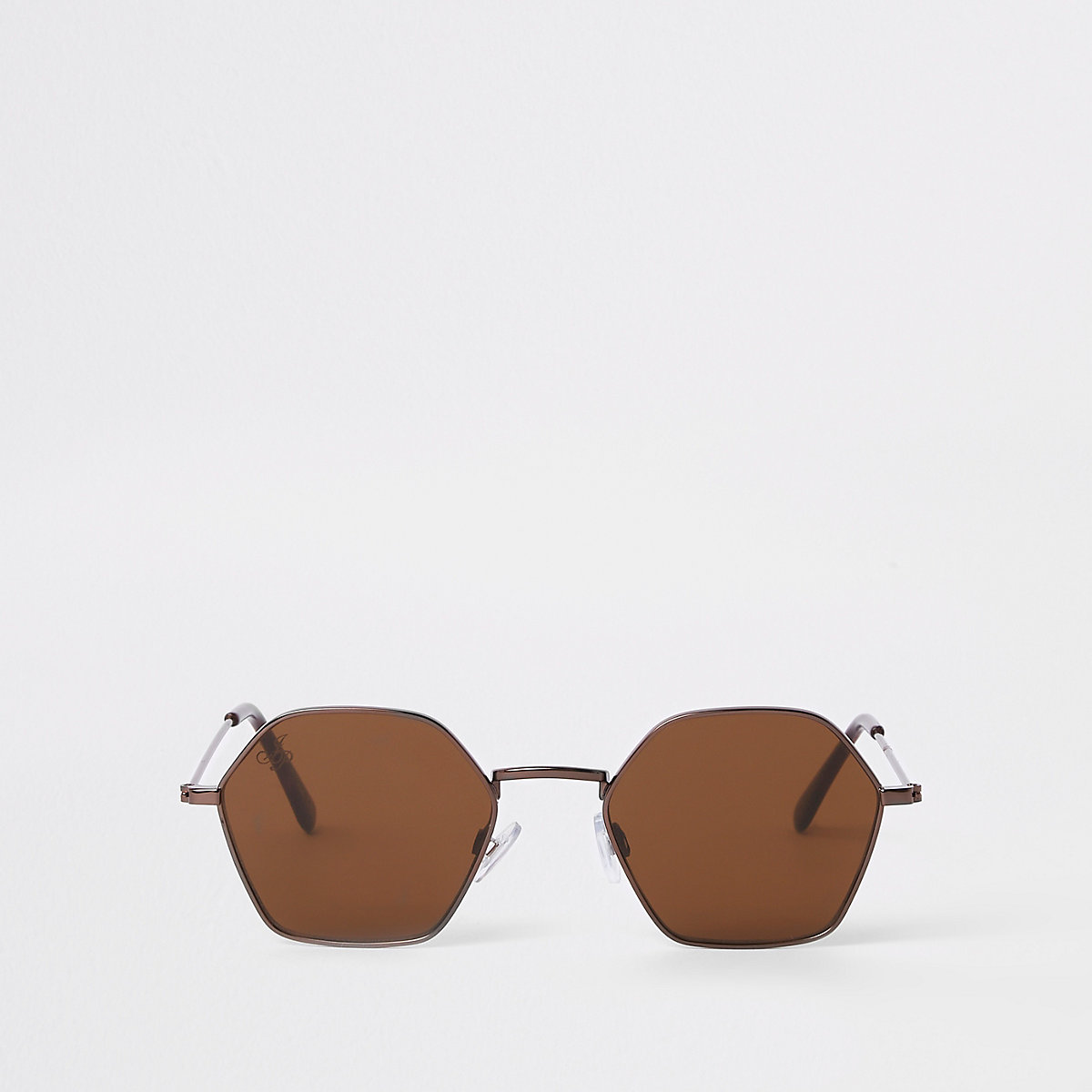Jeepers Peepers brown bronze hex sunglasses