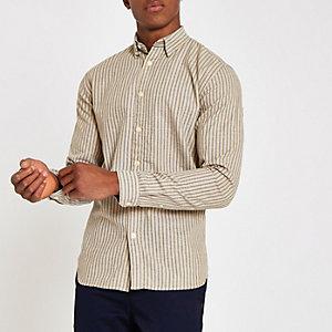 Selected Homme - Grijs gestreept overhemd