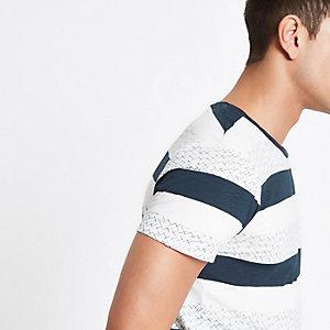 Selected Homme – Gestreiftes T-Shirt aus Bio-Baumwolle