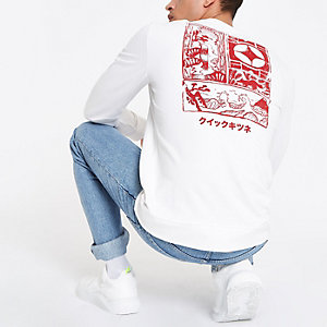 Only & Sons – Sweat imprimé blanc