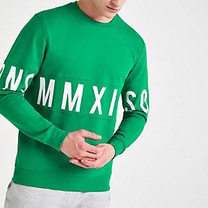 Only & Sons green printed sweatshirt