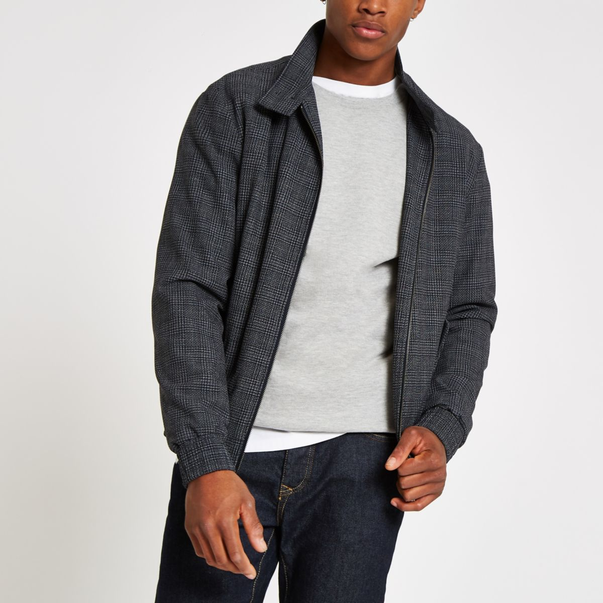 Selected Homme grey Harrington jacket