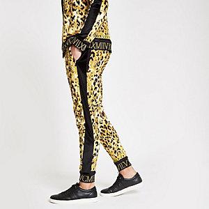 Jaded London yellow leopard print joggers