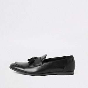 Zwarte loafers met kwastjes voor
