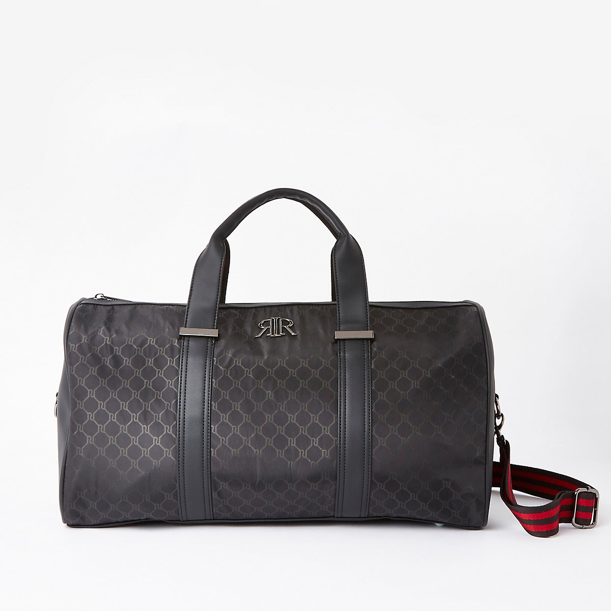 Black RI monogram holdall