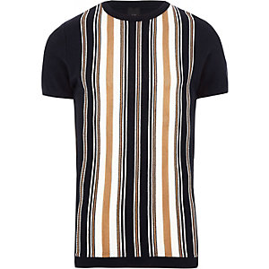Big and Tall navy stripe T-shirt