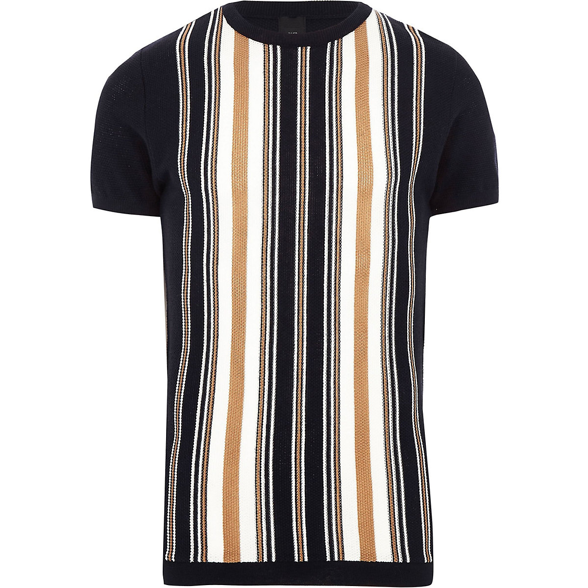 Big and Tall navy stripe T-shirt