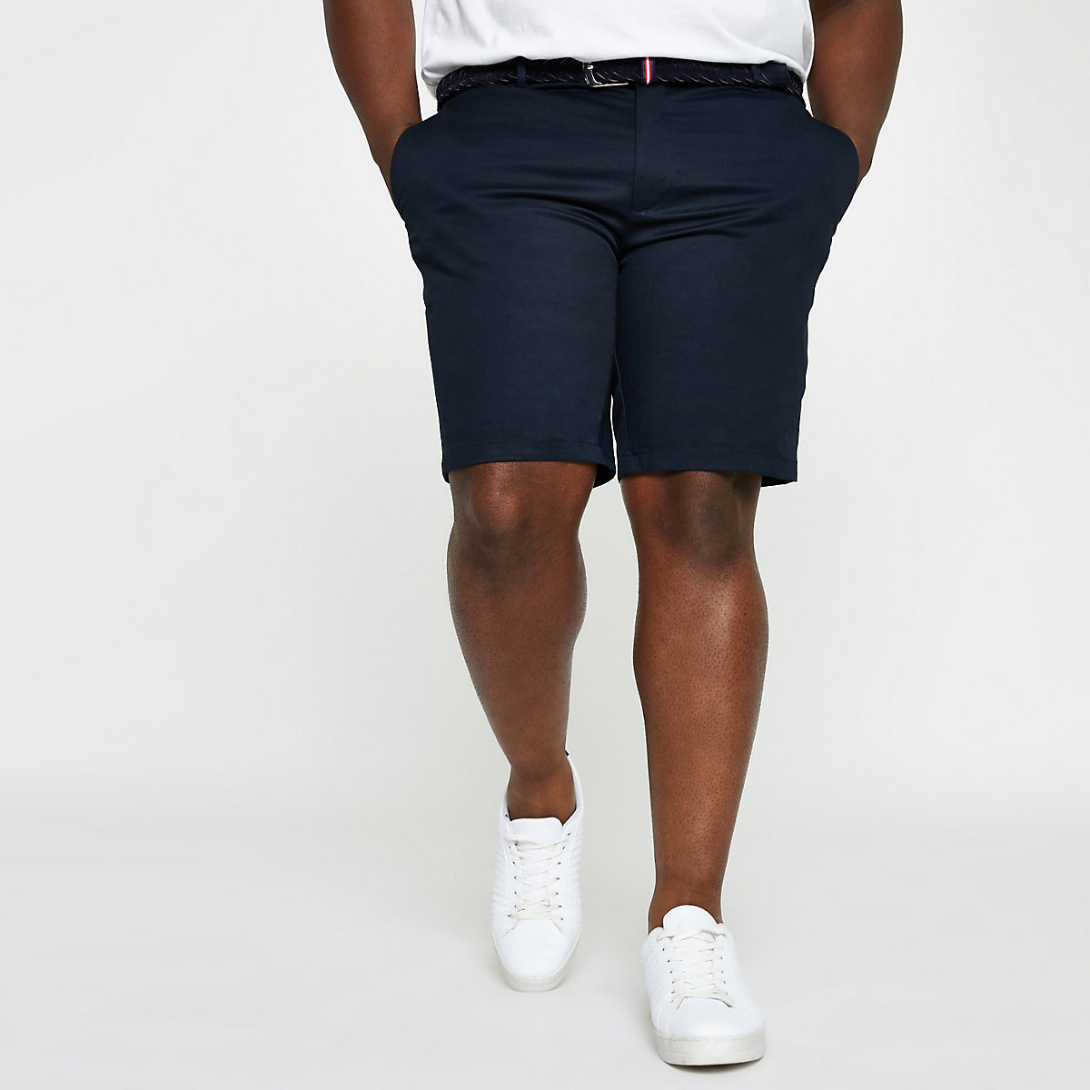 Big and Tall – Short chino slim bleu marine